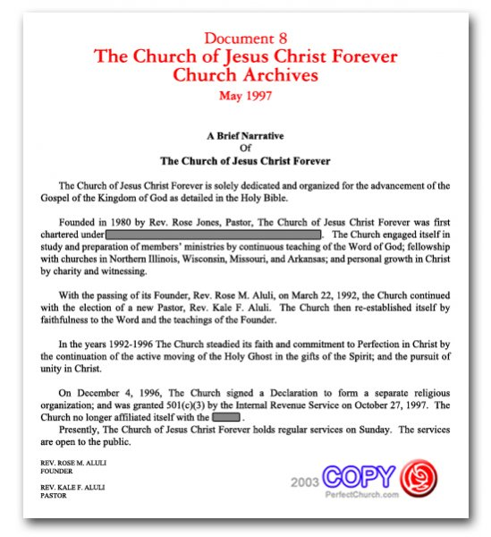 The Church Certification Perfect Church